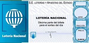 LOTERÍAS DE SELAE POR INTERNET. Sentencia del Juzgado Mercantil, fotografía de un cupón de lotería