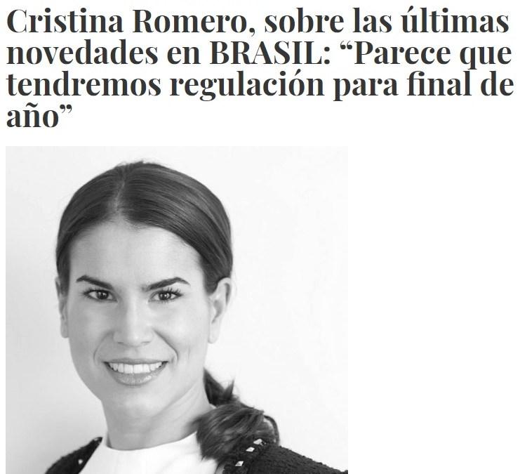 Entrevista a Cristina Romero por InfoPlay