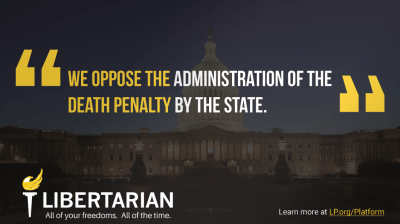 We oppose the administration of the death penalty by the state.