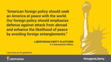 American foreign policy should seek an America at peace with the world. Our foreign policy should emphasize defense against attack from abroad and enhance the likelihood of peace by avoiding foreign entanglements.