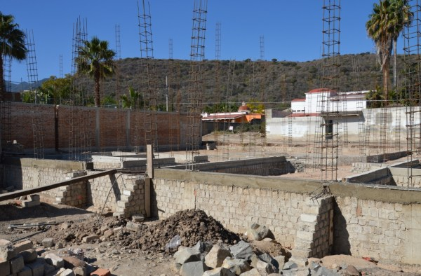 New church building foundation in Ajijic - Chapala