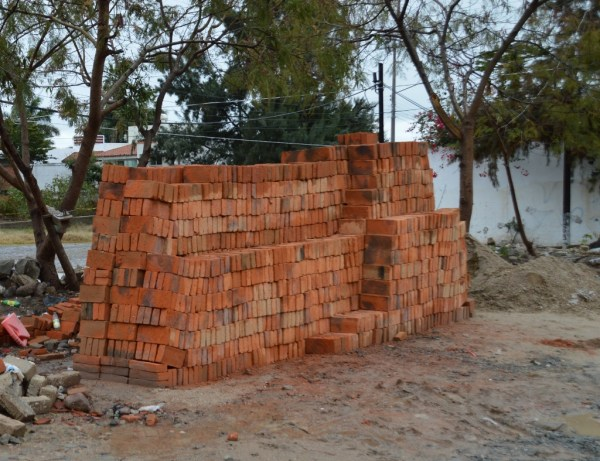 That's not even close to all the bricks we'll need . . .