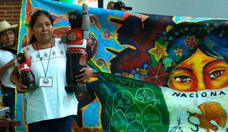 María de Jesús Patricio será la primera candidata indígena en las presidenciales de México. Foto: Cuartoscuro
