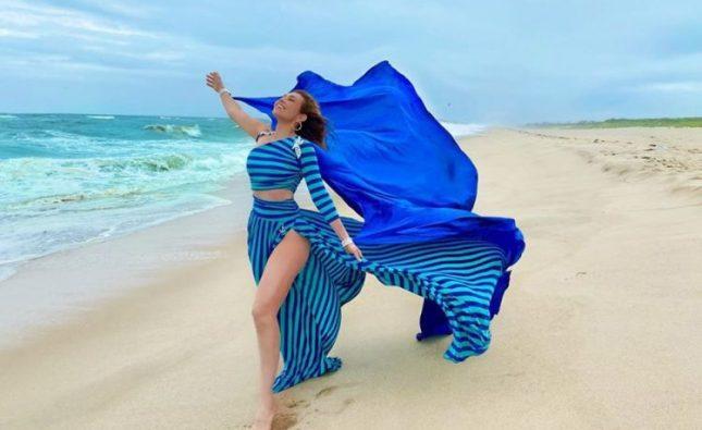 Thalía se robó todas las miradas con su vestimenta para la playa