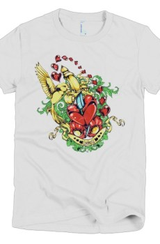 Love Birds - Short Sleeve women's t-shirt 13