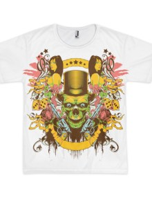 Skull Gunslinger - Short sleeve men's t-shirt (unisex) 1