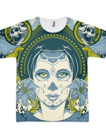 Queen of Skulls - Short sleeve men's t-shirt 1