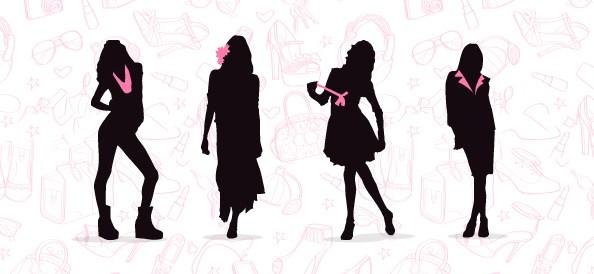 Fashionable Women Silhouette