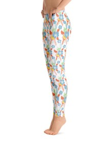 Colored Flower Leggings 1