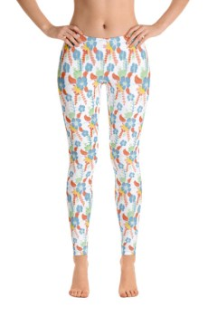 Colored Flower Leggings 2