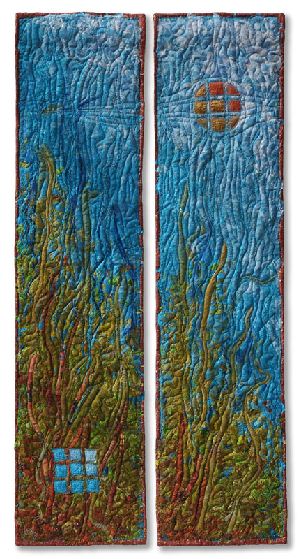 COUNTERPOINT DIPTYCH #9 2003  Quilted wall piece