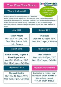BwD Healthwatch Poster