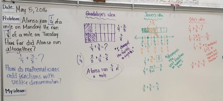 fractions board