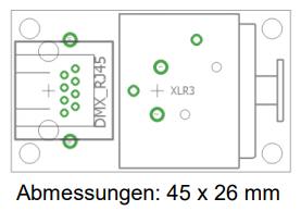 9910002085 DMX-RJ45-XLR3 Adapter p