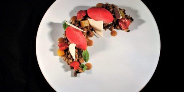 Pomodoro , lampone e cioccolato di Marco Cefalo.