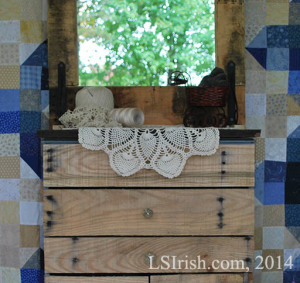 Pallet Wood Dresser Pineapple Crochet