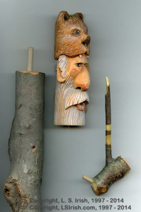 How to join a wood carving cane topper