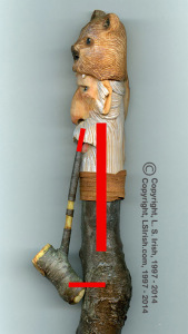How to wood carve a Mountain Man cane
