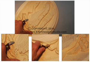 Under cut in wood carving