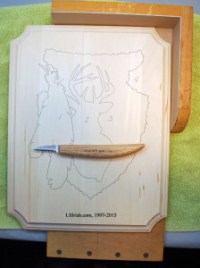Stop Cuts in Relief Wood Carving