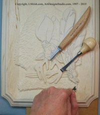 Adding texture to a relief wood carving background