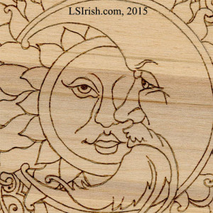Outlining a pyrography pattern