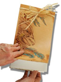 Pyrography Leather Journal