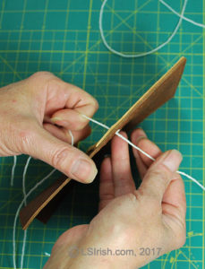 leather crafting, double needle stitching