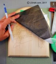 tracing your pattern to the wood
