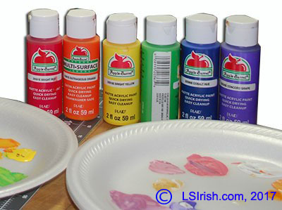 Painting a Color Wheel for Pyrography, Gourd Art, and Wood Carving