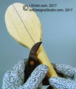 Rough Cutting a Wooden Spoon