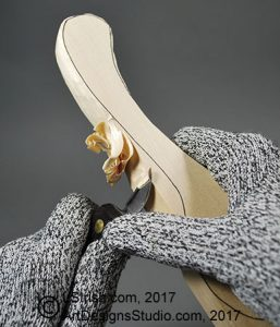 chip knife cutting a wooden spoon carving blank