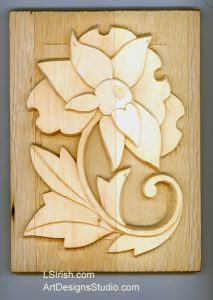 Altered Art Wood Carving. L S Irish