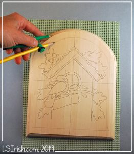 how to trace a pattern for wood burning