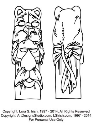 free cane carving pattern