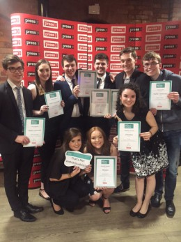 Journalism students at the Univerisity of Lincoln won a third of the awards at the 2016 Midland Media Student Awards in April. Photo: Samantha Pidoux.