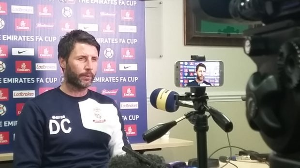 Danny Cowley has Lincoln challenging in both the league and cup competitions.