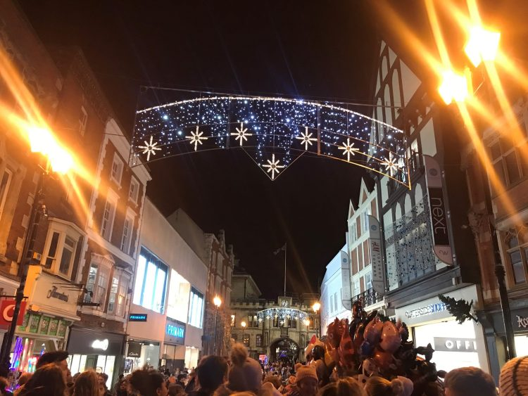 Lincoln Christmas lights have turned on!