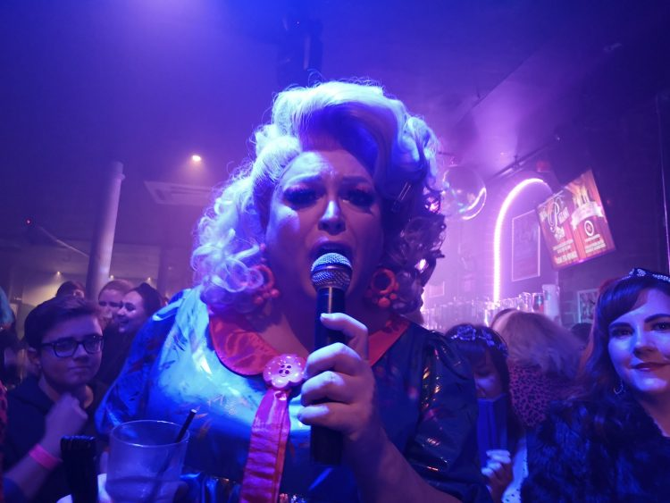 As well as new wave non-traditional drag, the evening featured a range of Lily Savagesque drag queens. Whilst some queens lip-synced there performance, this queen sang live.