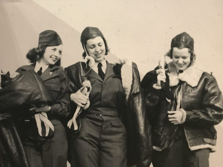 Nurses in the 817th Medical Air Evacuation Squadron. Photograph taken by Stephanie Lake of display at the, Century of Valour exhibition at the Collection Museum, Lincoln.