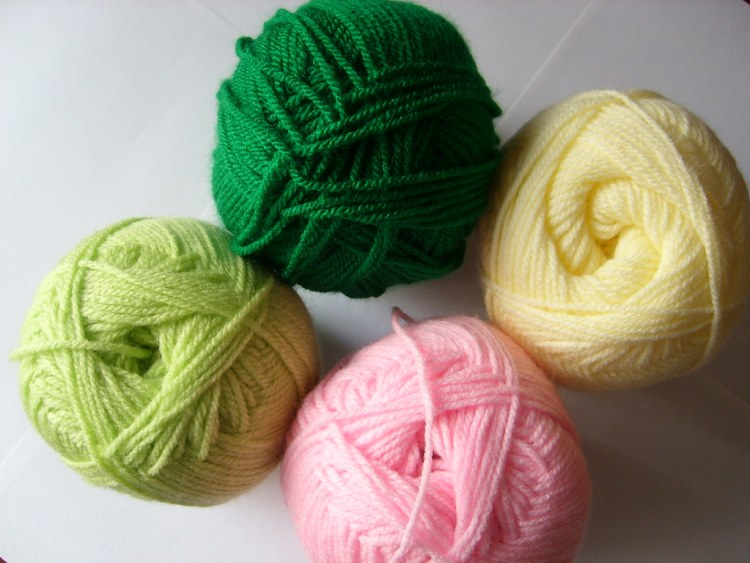 Balls of wool for knitting