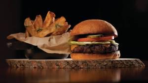 The burger at TRIO
