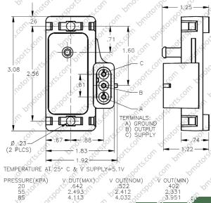 Home » Shop » GM  Delphi » Delphi  GM 1 Bar Map Sensor