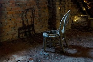 chair in the basement