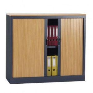 Roldeurkast 105 cm hoog houtprint