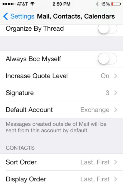 change signature yahoo mail iphone
