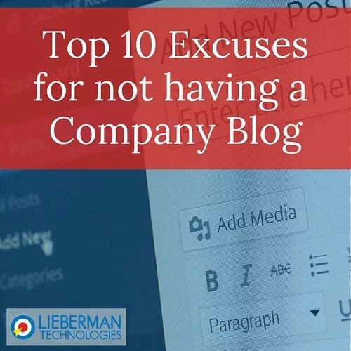 Not Having a Blog Excuses