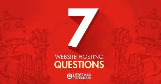 7 website hosting questions