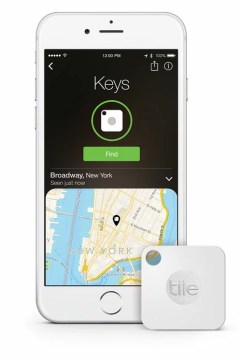 Tile app and Tile Mate Lieberman tech gift list