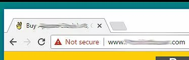 website is not secure icon in google chrome